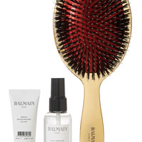 Balmain Paris Hair Couture - Gold boar bristle brush & haircare set