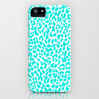 Turquoise Leopard iPhone & iPod Case by M Studio