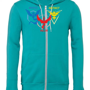 POKEMON GO TRIO TEAM Zipper Hoodie