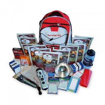 Wise 2 Week Emergency Survival First Aid Kit with Food & Water for One Person (Red)