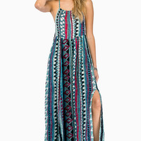 somedays lovin Liar Liar Printed Maxi Dress $98