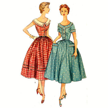 50s Rockabilly dress vintage sewing pattern McCalls 4931 Bust 32
