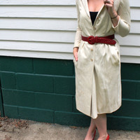 Linen Buttondown Jacket  1960s by Shannon Rodgers by SucreSucre