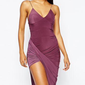 Club L Cami Dress With Asymmetric Skirt