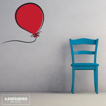 Carina Red Balloon Vinyl Wall Art Decal by WallumsWallDecals