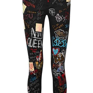 Dolce & Gabbana - Queen printed high-rise skinny jeans