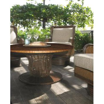 Padma's Plantation Outdoor Faux Crushed Bamboo Table Top
