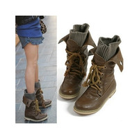 fashion motorcycle martin ankle boots for women,winter snow boots ladies leather flats boots shoes [8238484551]