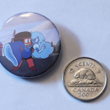"Ruby and Sapphire Keystone 1.25"" button"