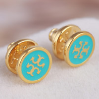 Tory Burch Fashion New Personality Earring Accessories Green