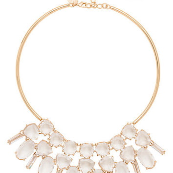 Kate Spade Vegas Jewels Statement Collar Necklace Clear ONE
