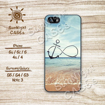 Infinity, Anchor, Ocean Beach, iPhone 5 case, iPhone 5C Case, iPhone 5S case, Phone case, iPhone 4 Case, iPhone 4S Case, Phone Skin, ia01