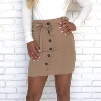Sandy Button Up Mini Skirt