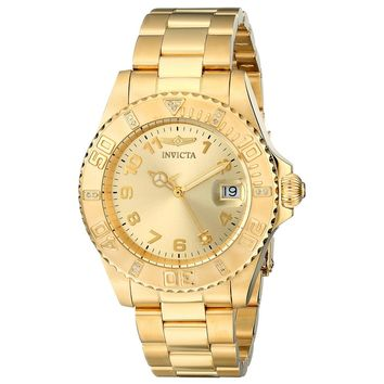 Invicta 15249 Women's Pro Diver Gold Tone Dial Yellow Gold Steel Dive Watch