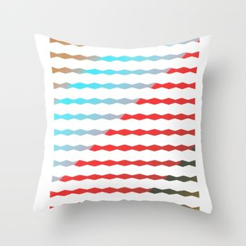 Lines pattern,abstract background Throw Pillow by Taoteching / C4Dart