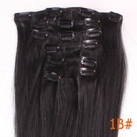 "20"" 8S 17Clip Full Head Clip in Remy 100% Human Hair Extensions Christmas Gift Freeshipping WGB"