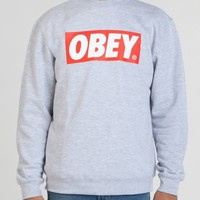 THE BOX CREW NECK SWEATSHIRT