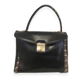 Marc Jacobs Python Black Leather Shoulder Bag