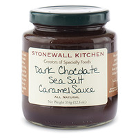 Dark Chocolate Sea Salt Caramel Sauce | Dessert Toppings | Stonewall Kitchen - Specialty Foods, Gifts, Gift Baskets, Kitchenware and Kitchen Accessories, Tableware, Home and Garden Décor and Accessories