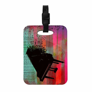 "alyZen Moonshadow ""A GRAND DELUGE (RED)"" Multicolor Abstract Decorative Luggage Tag"