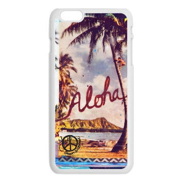 iPhone 6, iPhone 6 Plus Cases, ALOHA WAIKIKI HAWAII, iPhone6, iPhone 6 Plus, Diamond Head Hawaii, Avail. with Black or White case color