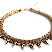 """Beautiful Dream"" Gold And Diamond Accent Statement Necklace"