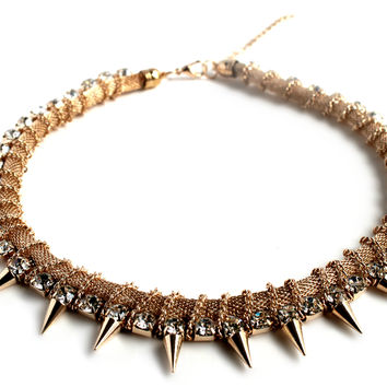 """""""Beautiful Dream"""" Gold And Diamond Accent Statement Necklace"""