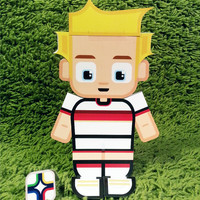 Germany football soccer craft activity. Printable paper toy. Instant download. Make you own cards, banners and football soccer bunting!