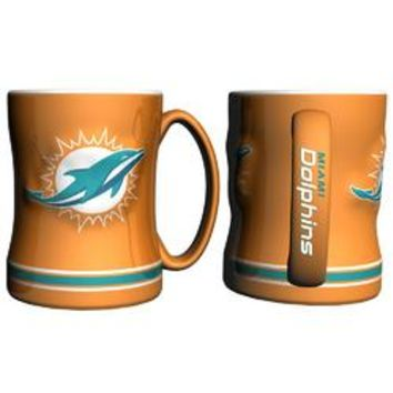 Miami Dolphins NFL Coffee Mug - 15oz Sculpted (Single Mug)
