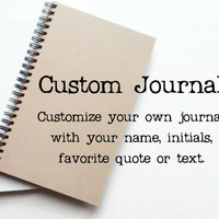 Personalized journal, custom notebook, diary, sketchbook, notepad, brown kraft or white journal, custom notebook, diary, gift for writers