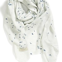 Women's Maison Scotch Bird Print Square Scarf