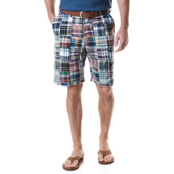 Cisco Short in Montauk Patch Madras by Castaway Clothing