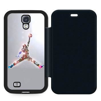 Air Jordan Leather Wallet Flip Case Samsung Galaxy S4