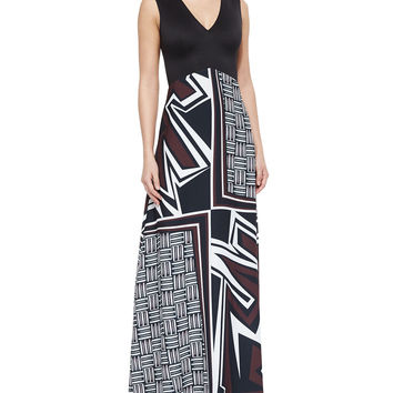 Warrior Weave Printed/Solid Maxi Dress, Size: