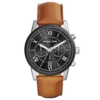 Michael Kors Men's Luggage Leather Watch - Brown