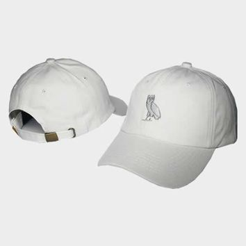cc auguau OVO Octobers Very Own Owl All White Hat