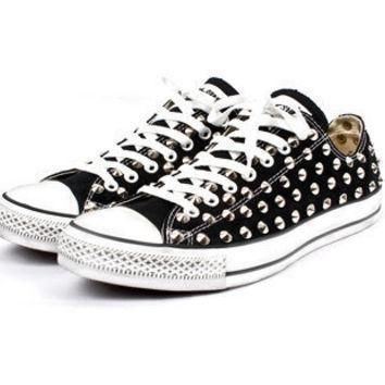 custom studded spiked converse chuck taylor low spikes studs all star