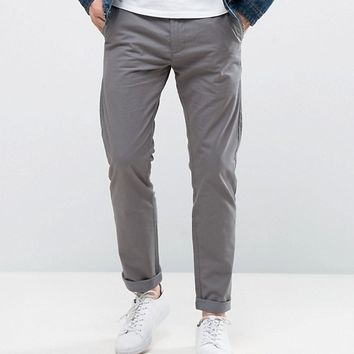 Solid Chinos In Slim Fit at asos.com
