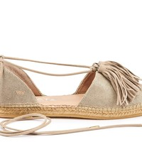 Sariera Canvas Espadrilles with Tassels - Gold
