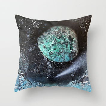 Frozen Landscape Throw Pillow by Lunacy Eavee
