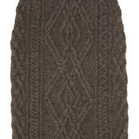 Chlo?|Cable-knit merino wool-blend skirt|NET-A-PORTER.COM