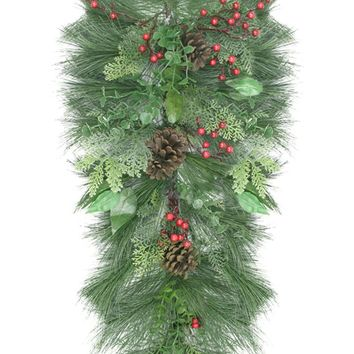 7.5' Pre-Lit Northern Frasier Fir Medium Upswept Artificial Christmas Tree Clear Lights
