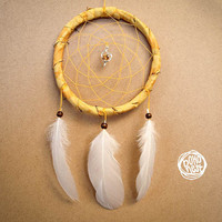 NEW YEAR SALE! - Dream Catcher - Sparkling Love - With Small Heart Pednant and Pure White Feathers - Home Decor, Mobile