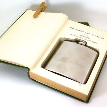 Hollow Book Safe w Flask -  Alexander Dumas Collection (6 oz)