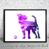 Jack Russell 8 Watercolor Print, Terrier art, dog art, dog watercolor, watercolor painting, animal watercolor,dog painting