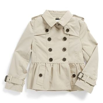 Burberry 'Mini Rushcourt' Trench Coat (Toddler Girls)