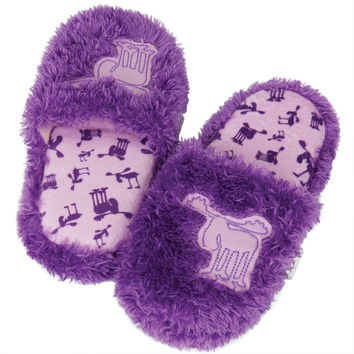 Moose Fuzzy Adult Spa Slippers
