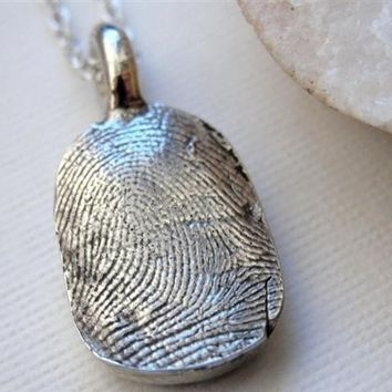 Custom Fingerprint Necklace Personalized Jewelry