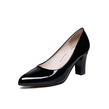 Patent Leather High Heel Women Pumps