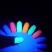 "Pixie Polish Set of 5- ""The OMFG Line""- Neon Nail Polish - Big 3 Free-  Blacklight UV and LED Reactive"
